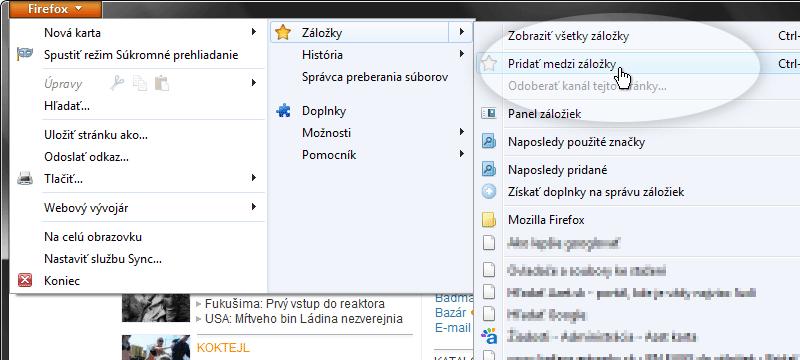 Firefox krok č.1