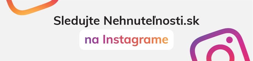 Sledujte Nehnuteľnosti.sk na Instagrame